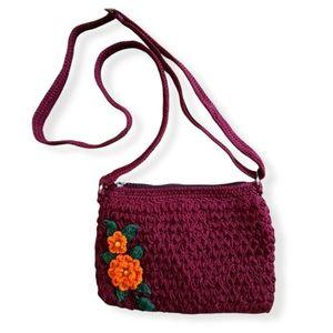 Handmade Boho Crochet Flower Crossbody Bag
